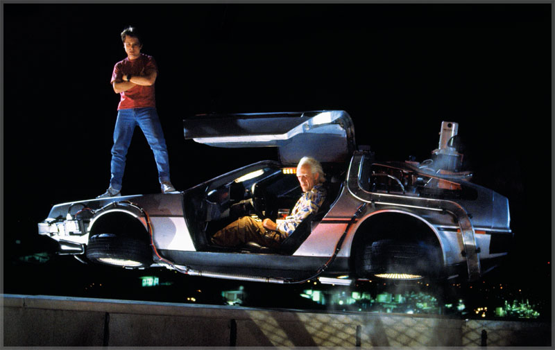 Doc & Marty and Delorean Time Machine