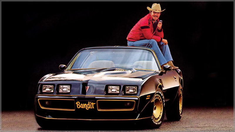 Burt Reynolds as Bandit with his Bandit 1 Trans Am