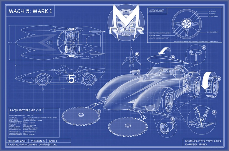 Mark 1 Version 5 Blueprints — The Mach 5