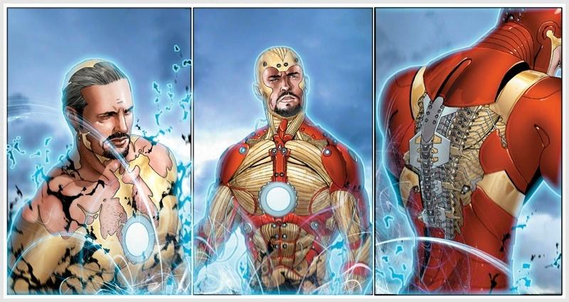 Extremis Nanotech serum creating Tony Stark's Extremis Armor