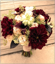Burgundy Bouquet Dahlia Flower
