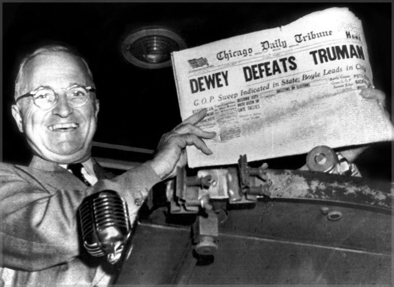 An Early Meme - Dewey Defeats Truman