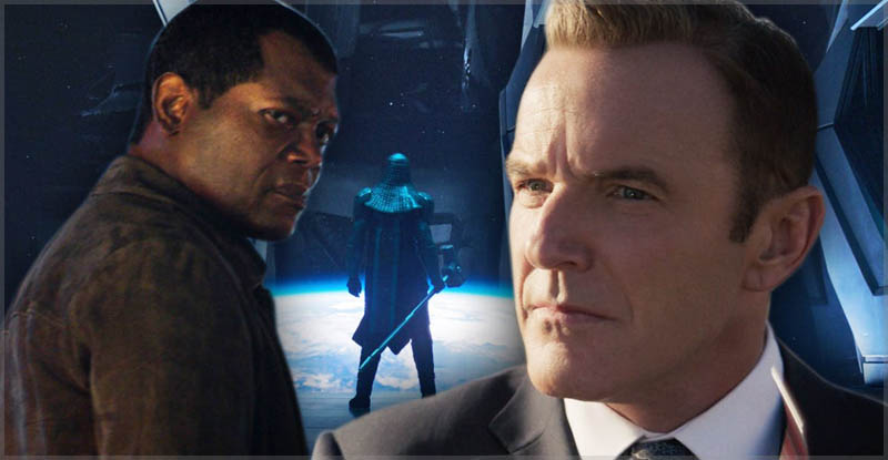 Fury and Coulson - Younger in Captain Marvel