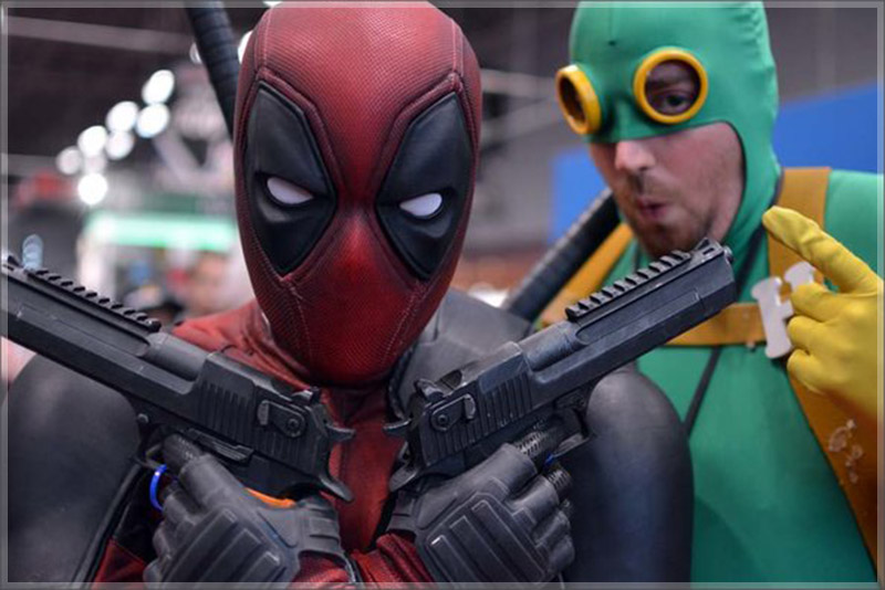 Deadpool and Hydra Bob at New Comic-Con