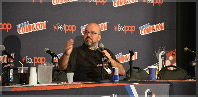 Fabian Nicieza in a panel discussion at New York Comic-Con