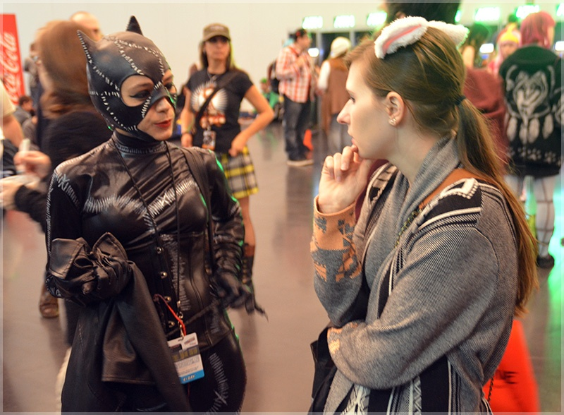 Sarah Allen Ruiz and Catwoman at NYCC