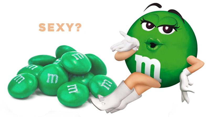Is the Green M&M Sexy?