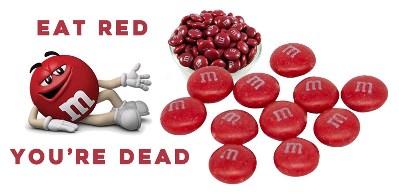 Fear Spread Over the Red M&M and the Company Removed Red M&M's from Production