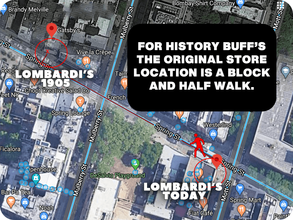 Lombardi's Closed and re-opened a block and a half away from its original location